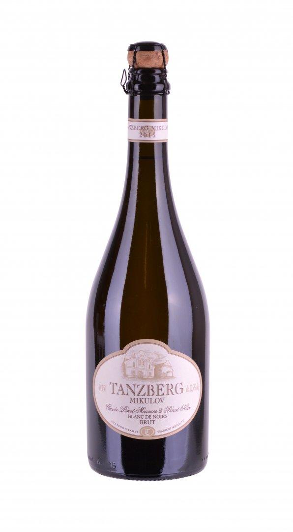 Tanzberg Mikulov - Sekt Pinot Meunier + Pinot Noir, blanc de noirs - Jakostní šumivé víno - sekt 2013 - 0,75l (balení 6 lahví)