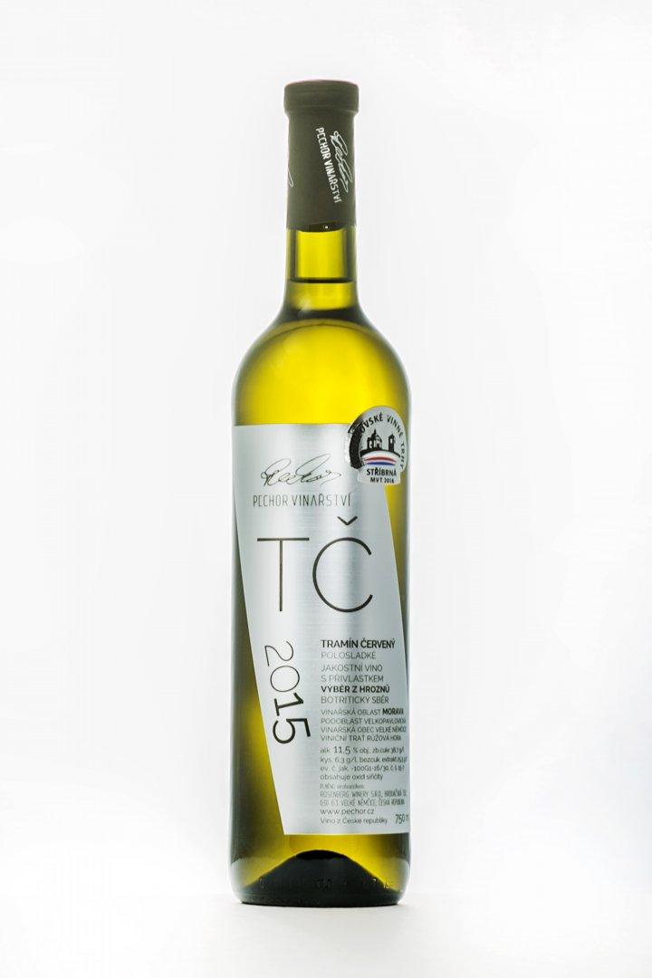 Pechor vinařství - Tramín červený (botrytický sběr) - Výběr z hroznů 2015 - 0,75l (balení 6 lahví)