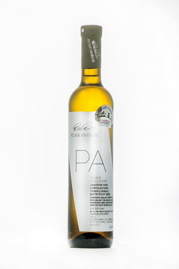 Pechor vinařství - Pálava (botrytický sběr) - Výběr z bobulí 2014 - 0,5l (balení 6 lahví)