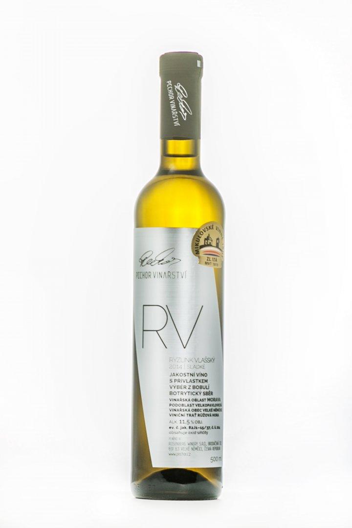Pechor vinařství - Ryzlink vlašský (botrytický sběr) - Výběr z bobulí 2014 - 0,5l (balení 6 lahví)