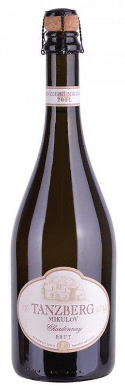 Tanzberg Mikulov - Sekt Chardonnay - Jakostní šumivé víno - sekt 2011 - 0,75l (balení 6 lahví)