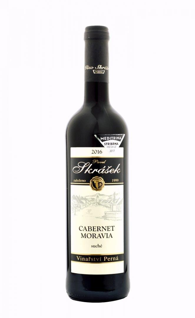 Vinařství Pavel Skrášek - Cabernet Moravia - Zemské víno 2016 - 0,75l (balení 6 lahví)
