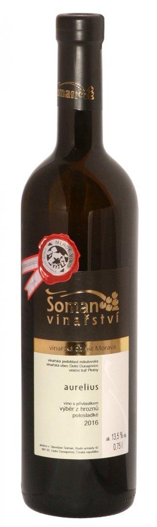 Vinařství Šoman - Aurelius - Výběr z hroznů 2016 - 0,75l (balení 6 lahví)