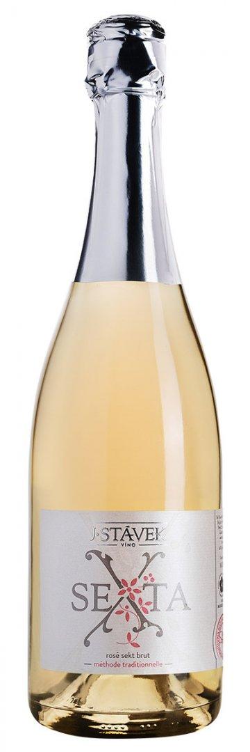 Víno J.Stávek - Sexta - Jakostní šumivé víno - sekt - 0,75l (balení 6 lahví)