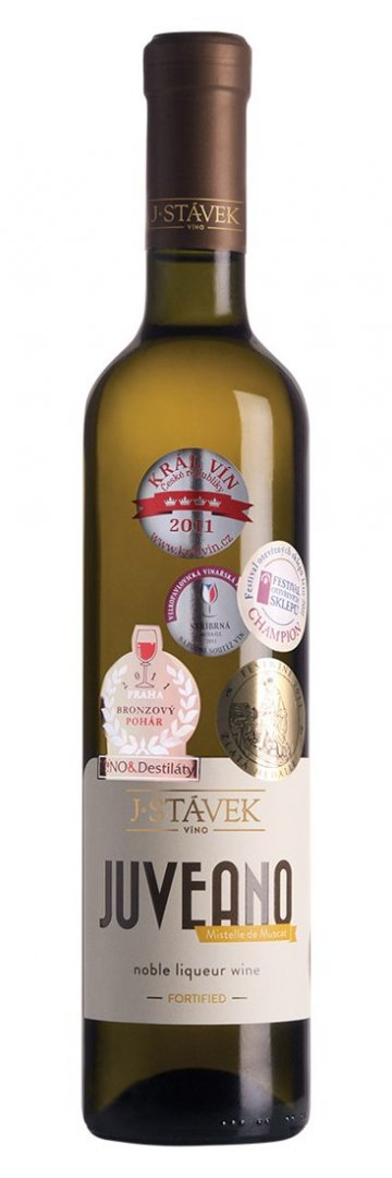 Víno J.Stávek - Juveano – Mistelle de Muscat - Jakostní fortifikované víno 2013 - 0,75l (balení 6 lahví)