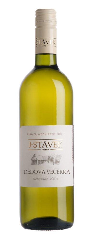 Víno J.Stávek - Cuvée Dědova večerka - Zemské víno 2015 - 0,75l (balení 6 lahví)