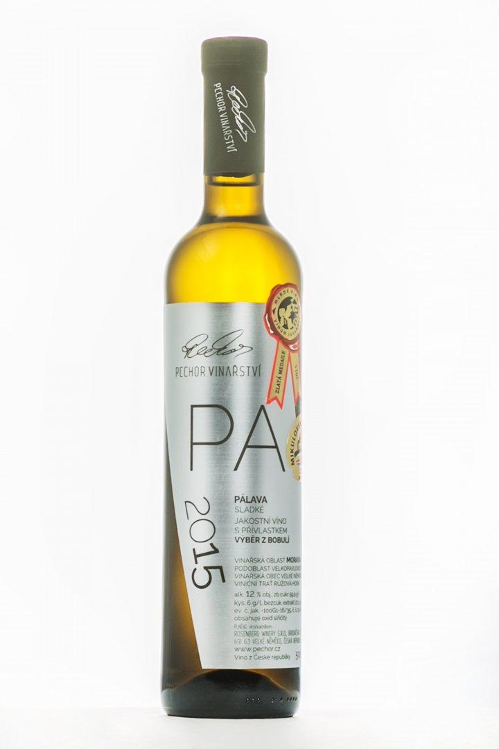 Pechor vinařství - Pálava - Výběr z bobulí 2015 - 0,5l (balení 6 lahví)