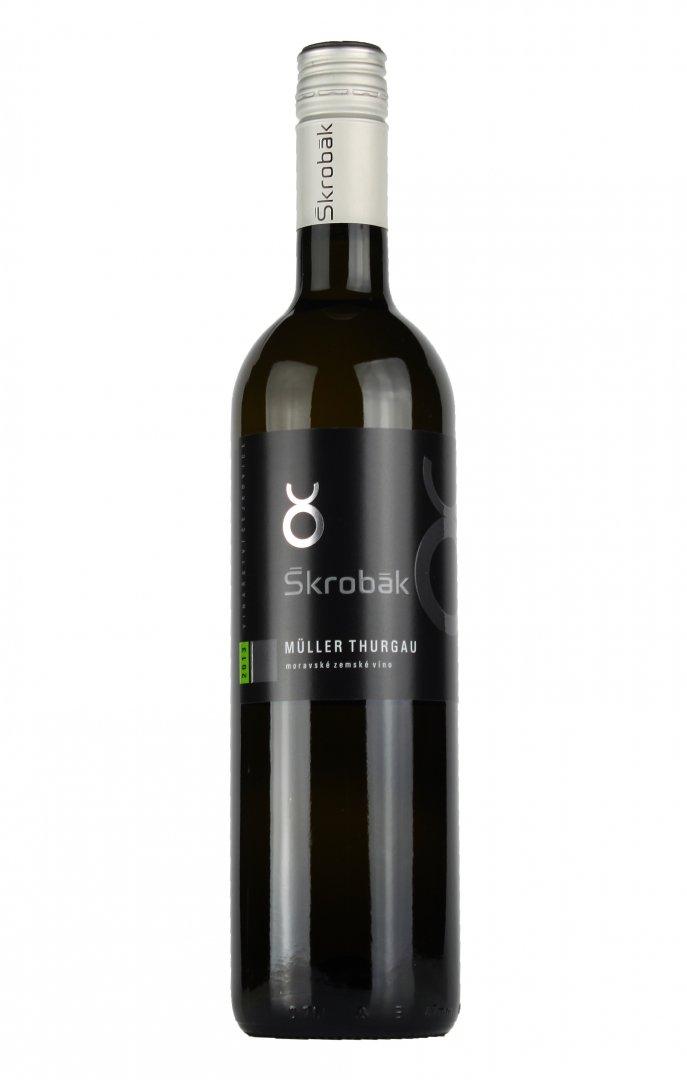 Víno Škrobák - Müller Thurgau - Kabinetní víno 2016 - 0,75l (balení 6 lahví)