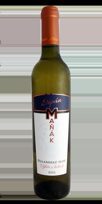 Vinařství Štěpán Maňák - Rulandské šedé - Výběr z bobulí 2015 - 0,5l (balení 6 lahví)
