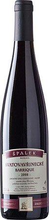 Vinařství Špalek - Svatovavřinecké barrique - Jakostní víno 2008 - 0,75l (balení 6 lahví)