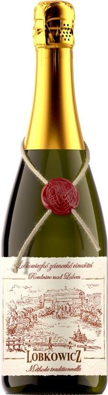 Lobkowiczké zámecké vinařství Roudnice nad Labem - Ryzlink rýnský - Jakostní šumivé víno - sekt 2014 - 0,75l (balení 6 lahví)