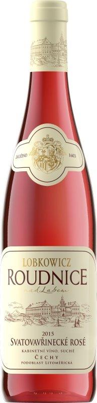 Lobkowiczké zámecké vinařství Roudnice nad Labem - Svatovavřinecké rosé - Kabinetní víno 2015 - 0,75l (balení 6 lahví)