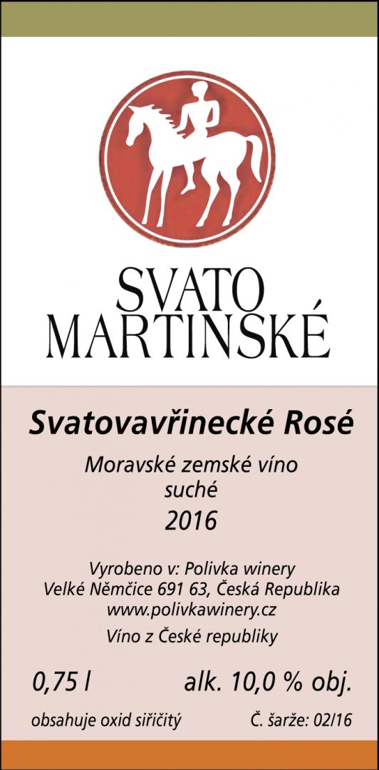 Polivka Winery - Svatovavřinecké - Zemské víno 2016 - 0,75l (balení 6 lahví)