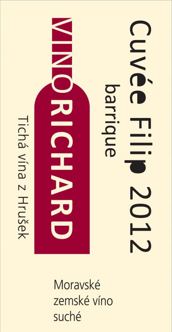 VINO RICHARD - Ing. Richard Tichý - Cuvée Filip - Zemské víno 2012 - 0,75l (balení 6 lahví)