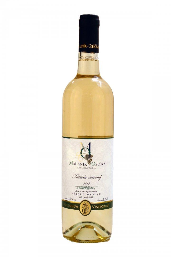 Vinařství Maláník – Osička - Tramín červený - Výběr z hroznů 2015 - 0,75l (balení 6 lahví)