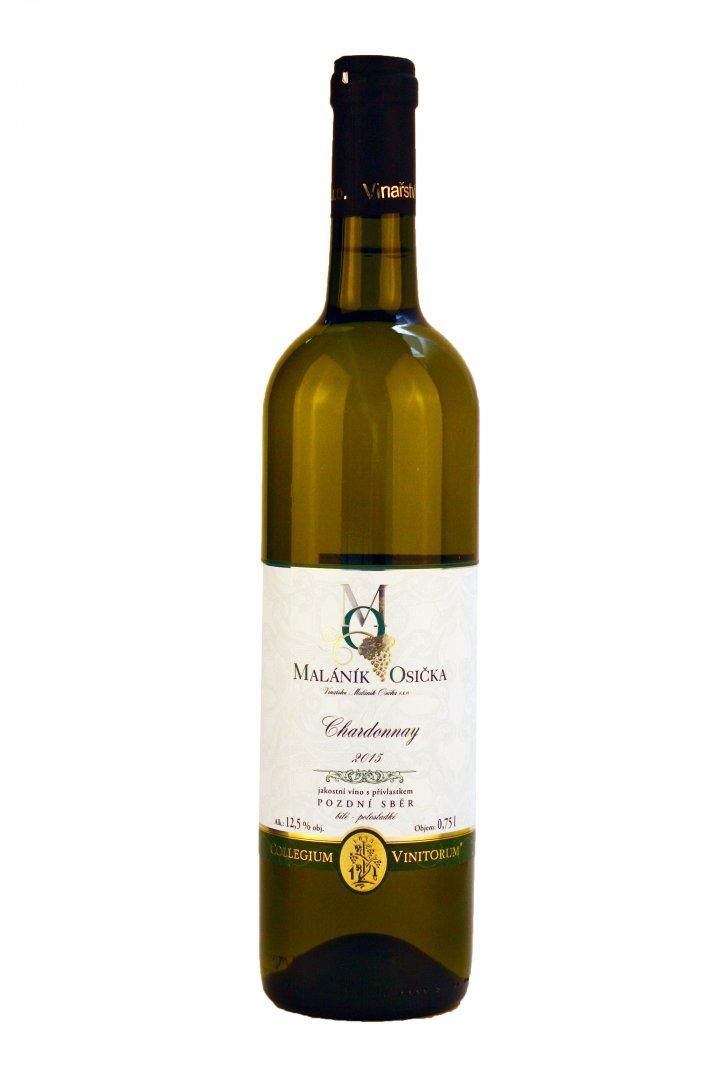 Vinařství Maláník-Osička - Chardonnay - Pozdní sběr 2015 - 0,75l