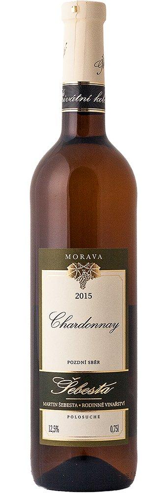 Vinařství Šebesta - Chardonnay - Pozdní sběr 2015 - 0,75l