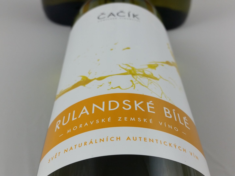 Kobylské vinařství Čačík - Rulandské bílé - Zemské víno 2015 - 0,75l