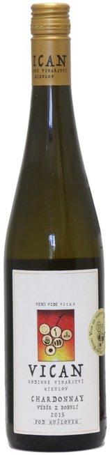 Rodinné vinařství Vican - Chardonnay - Výběr z bobulí 2015 - 0,75l