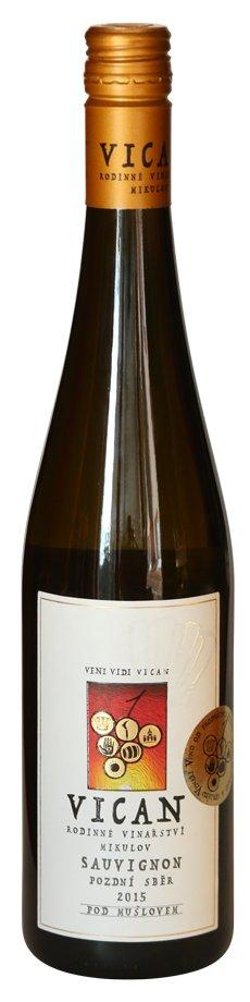 Rodinné vinařství Vican - Sauvignon - Pozdní sběr 2015 - 0,75l