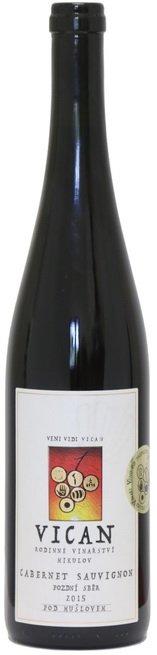 Rodinné vinařství Vican - Cabernet Sauvignon - Pozdní sběr 2015 - 0,75l (balení 6 lahví)