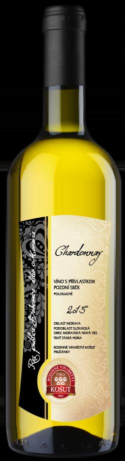Vinařství Košut - Chardonnay - Pozdní sběr 2015 - 0,75l (balení 6 lahví)