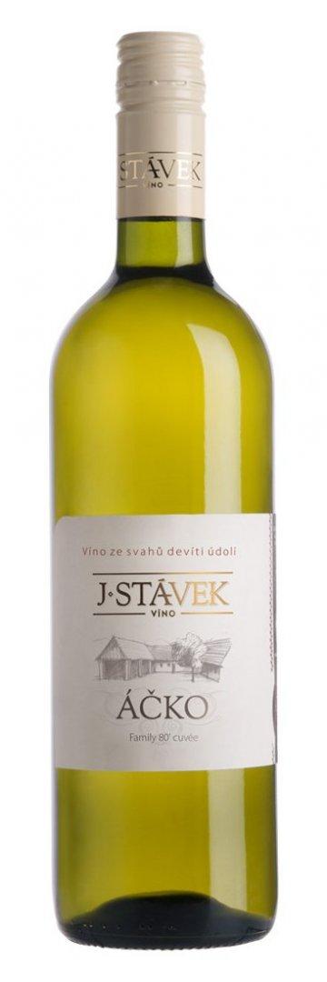 Víno J.Stávek - Áčko - Zemské víno 2015 - 0,75l (balení 6 lahví)