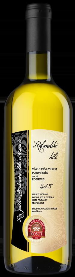 Vinařství Košut - Rulandské bílé (Robustus) - Pozdní sběr 2015 - 0,75l (balení 6 lahví)