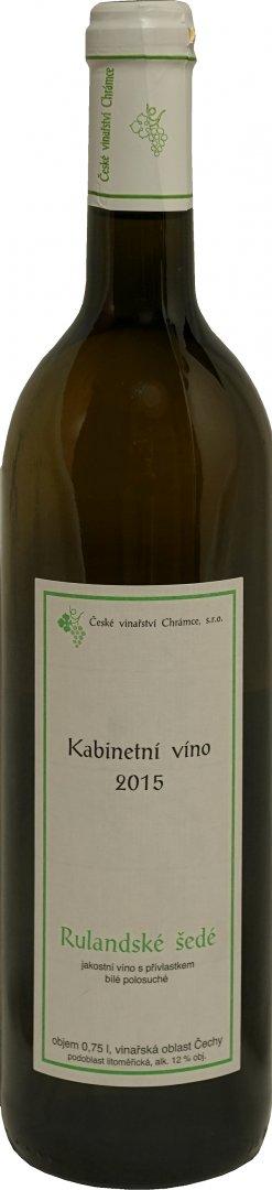 České vinařství Chrámce - Rulandské šedé - Kabinetní víno 2015 - 0,75l