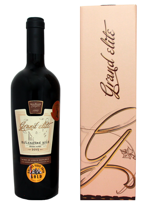 Vinařství Štěpán Maňák - Rulandské bílé - GRAND ELITE - Zemské víno 2015 - 0,75l