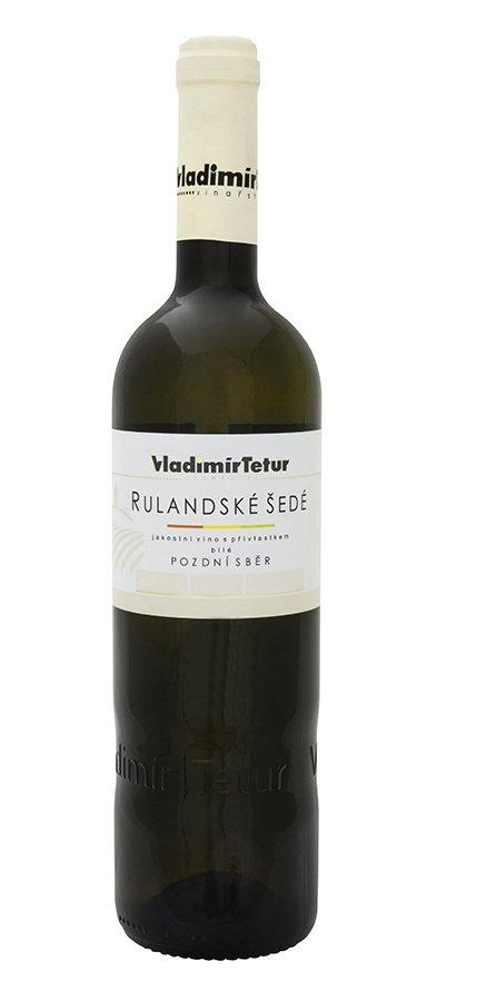 Vinařství Vladimír Tetur - Rulandské šedé barrique - Pozdní sběr 2015 - 0,75l (balení 6 lahví)