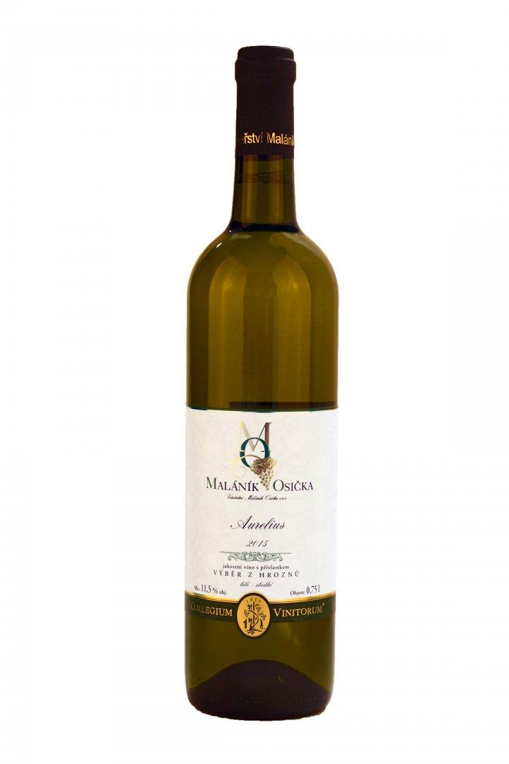 Vinařství Maláník – Osička - Aurelius - Výběr z hroznů 2015 - 0,75l (balení 6 lahví)