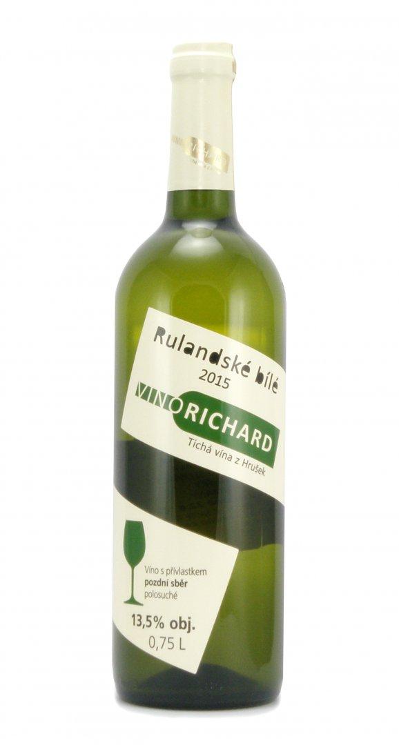 VINO RICHARD - Ing. Richard Tichý - Rulandské bílé - Pozdní sběr 2015 - 0,75l (balení 6 lahví)