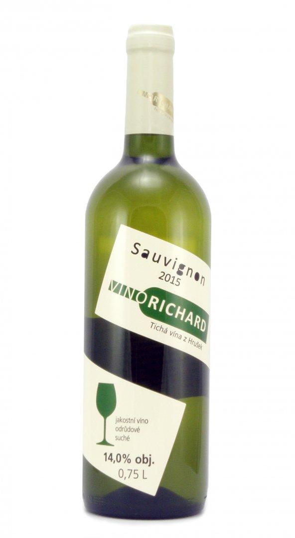 VINO RICHARD - Ing. Richard Tichý - Sauvignon - Jakostní víno 2015 - 0,75l (balení 6 lahví)