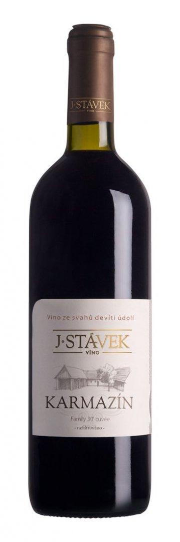 Víno J.Stávek - Karmazín - Zemské víno 2013 - 0,75l (balení 6 lahví)