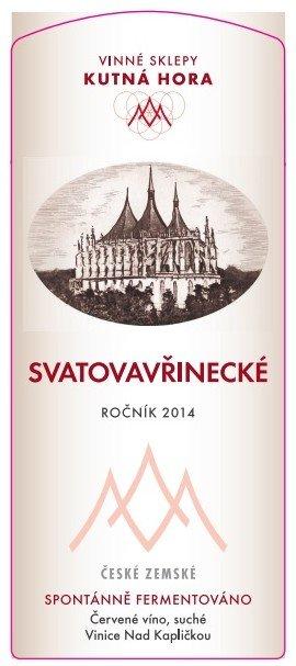Vinné sklepy Kutná Hora - Svatovavřinecké (Bio, Demeter) - Kabinetní víno 2015 - 0,75l