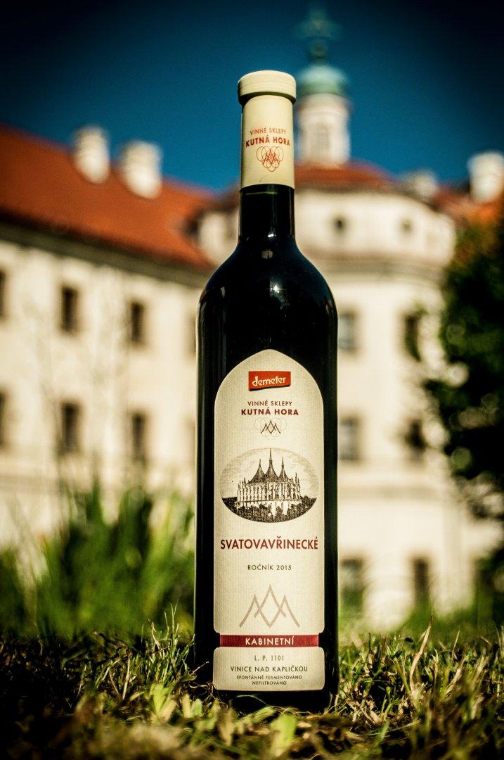 Vinné sklepy Kutná Hora - Svatovavřinecké (Bio, Demeter) - Kabinetní víno 2015 - 0,75l (balení 6 lahví)