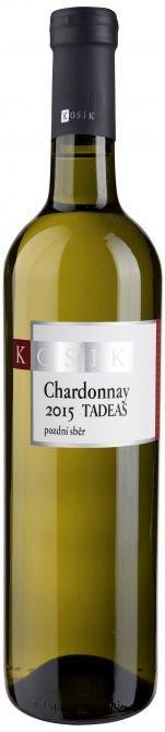 Kosík vinařství - Chardonnay TADEAS - Pozdní sběr 2015 - 0,75l