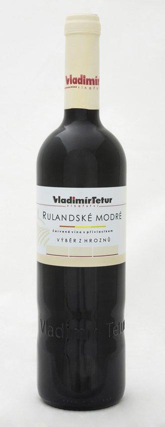 Vinařství Vladimír Tetur - Rulandské modré - Výběr z hroznů 2009 - 0,75l (balení 6 lahví)