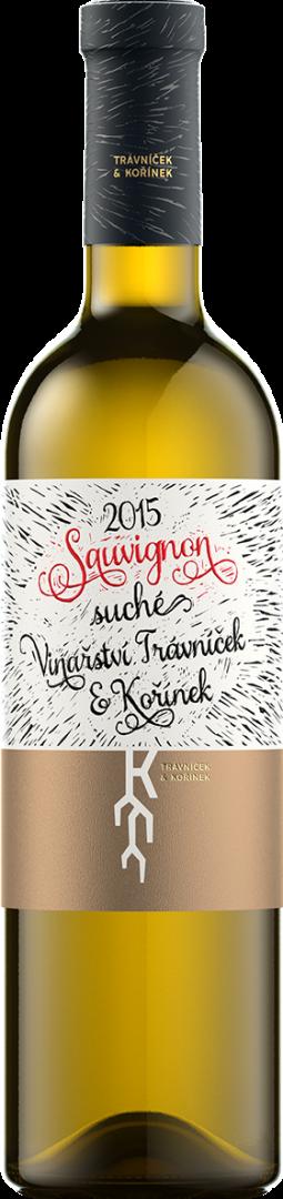 Vinařství Trávníček a Kořínek - Sauvignon - Pozdní sběr 2015 - 0,75l (balení 6 lahví)