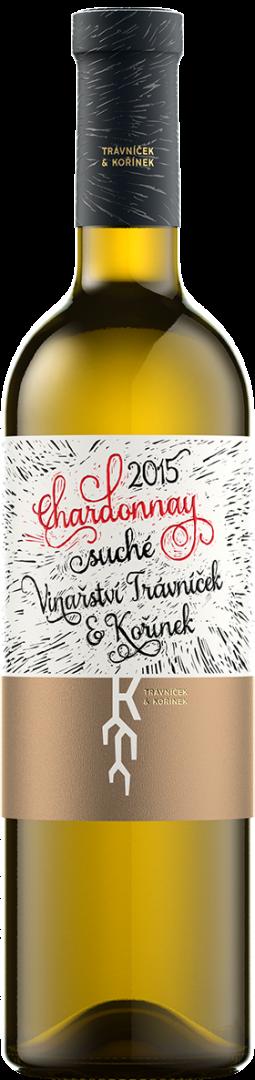 Vinařství Trávníček a Kořínek - Chardonnay - Pozdní sběr 2015 - 0,75l