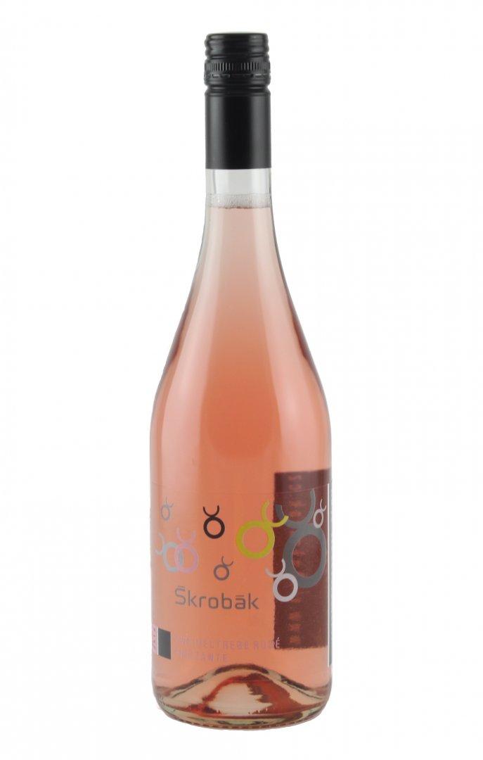 Víno Škrobák - Zweigeltrebe rosé FRIZZANTE - Zemské víno 2015 - 0,75l (balení 6 lahví)