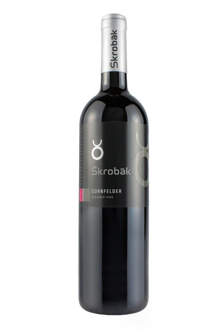 Víno Škrobák - Dornfelder - Zemské víno 2015 - 0,75l