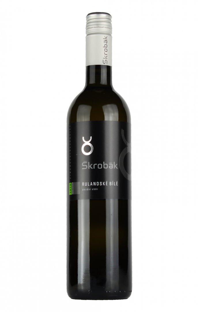 Víno Škrobák - Rulandské bílé - Pozdní sběr 2017 - 0,75l