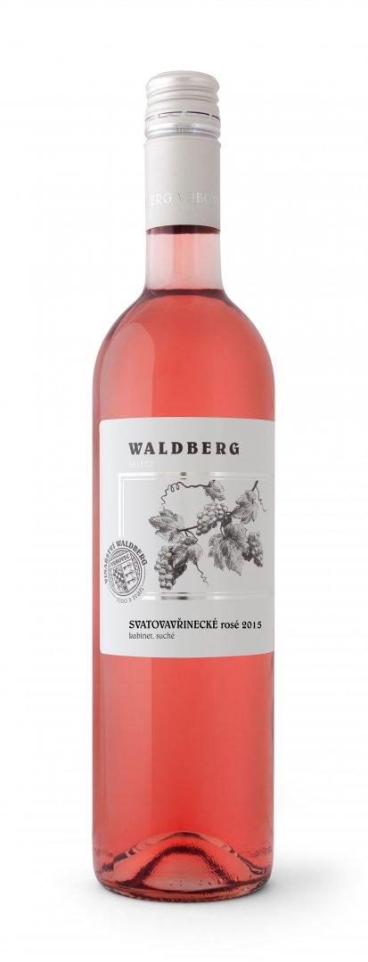 Vinařství Waldberg Vrbovec - Svatovavřinecké rosé - Kabinetní víno 2015 - 0,75l (balení 6 lahví)