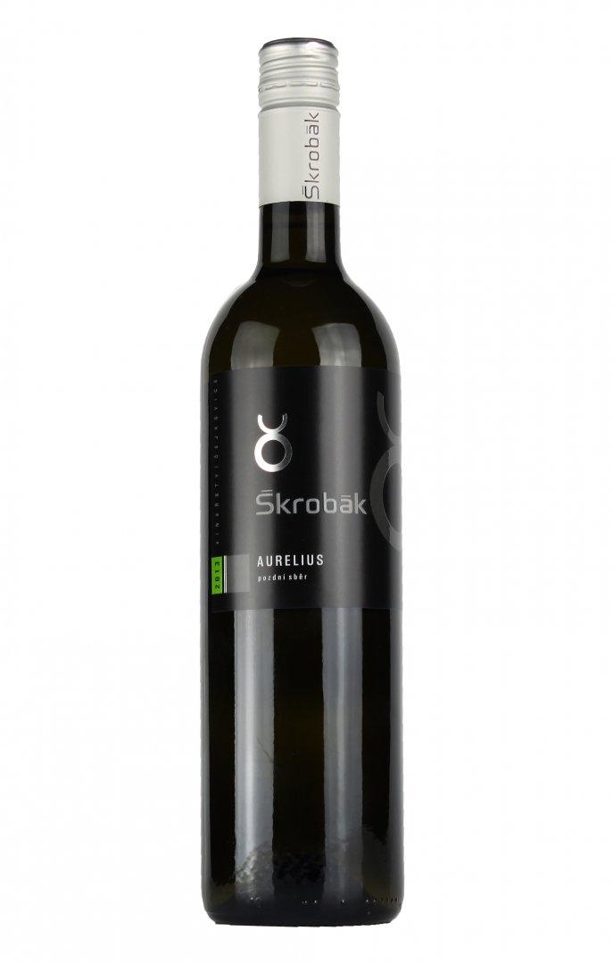 Víno Škrobák - Aurelius - Výběr z hroznů 2015 - 0,75l