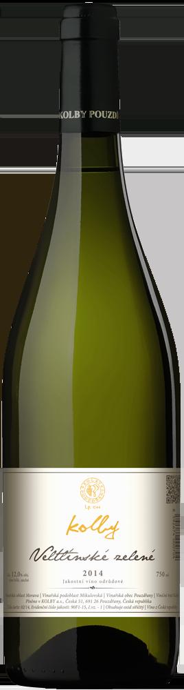 Kolby - Veltlínské zelené - Jakostní víno 2014 - 0,75l