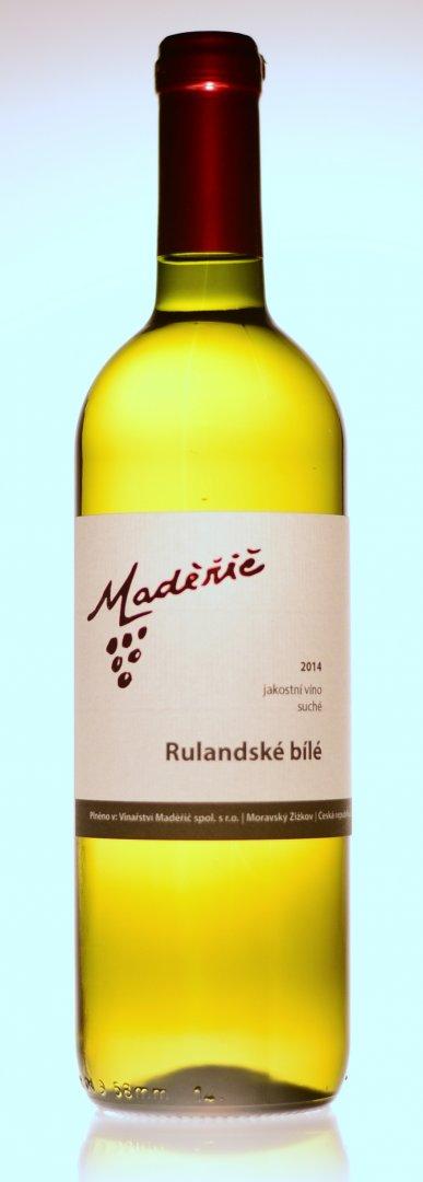 Vinařství Maděřič - Rulandské bílé - Jakostní víno 2014 - 0,75l (balení 6 lahví)