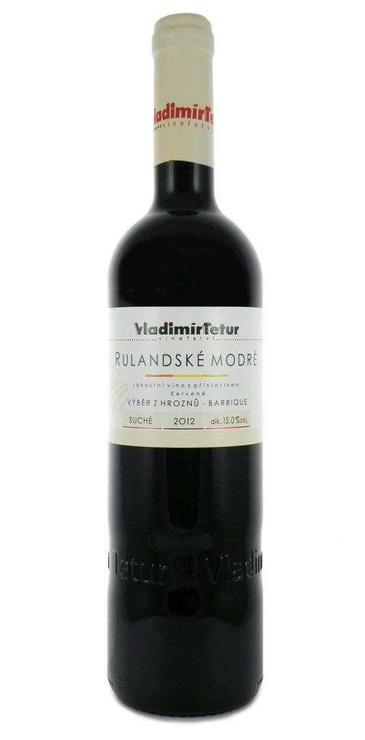 Vinařství Vladimír Tetur - Rulandské modré barrique - Výběr z hroznů 2012 - 0,75l (balení 6 lahví)