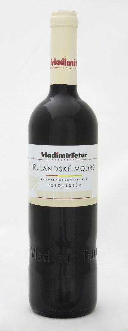 Vinařství Vladimír Tetur - Rulandské modré - Pozdní sběr 2013 - 0,75l